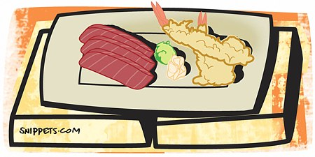 Know your non-sushi items too, like sashimi and tempura
