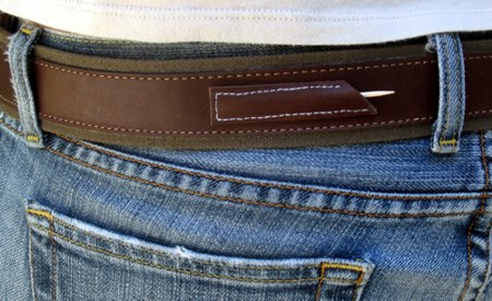 Toothpick Pocket on a Belt