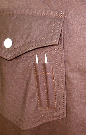 Dual Toothpick Pocket for a Hopeless Romantic